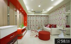 现代简约二居室家庭装修图片
