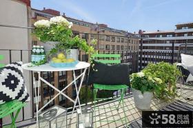 顶层公寓阳台装修效果图