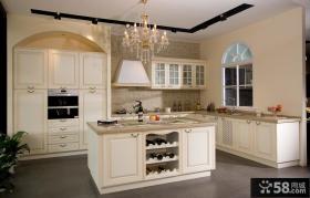 开放式厨房欧式橱柜效果图欣赏
