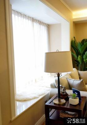 美式风格客厅飘窗设计图片