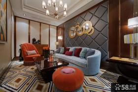 欧式风格客厅沙发吊顶装饰效果图