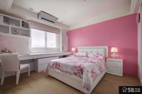 欧式家庭粉色卧室效果图大全