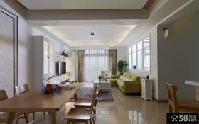 简约风格90平米两室一厅家居装修图欣赏