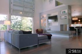 现代别墅客厅电视背景墙装修效果图欣赏