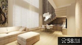 80后文艺青年小复式客厅装修效果图大全2012图片