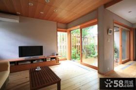 别墅客厅装修简单电视背景墙效果图