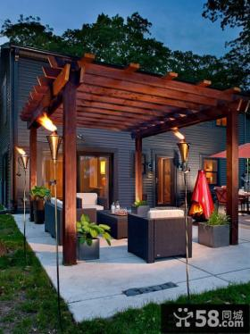 豪华家庭装修开放式阳台图片