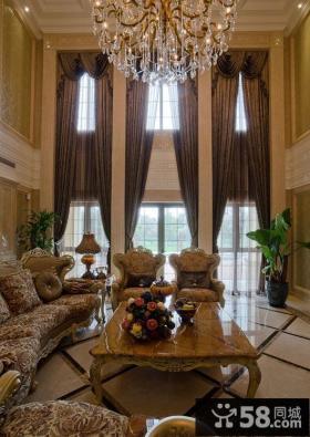 欧式风格别墅客厅装修设计