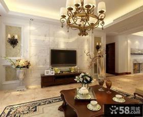美式风格客厅电视背景墙大全