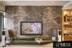 现代风格大理石电视背景墙装饰效果图