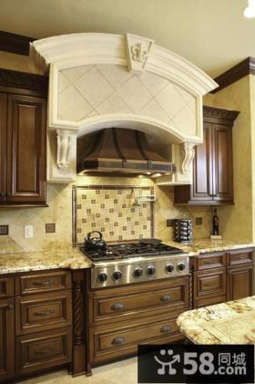 200万打造豪华美式风格厨房橱柜装修效果图大全2014图片