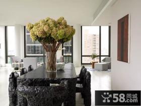 二室二厅简约自然的餐厅装修效果图大全2014图片