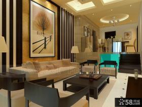 含有现代元素的中式风格客厅装修效果图大全2014图片