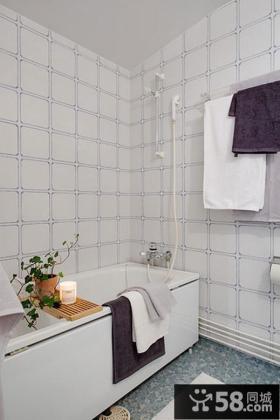 简约风格卫生间瓷砖效果图