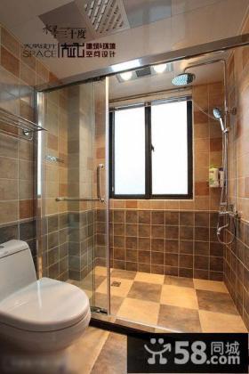 家居卫生间仿古拼花地砖效果图