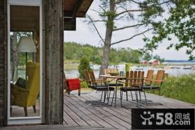 两室一厅简约风格露天阳台装修效果图