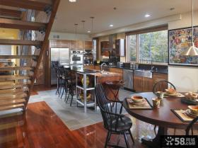 复式楼厨房装修效果图大全