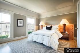 简约时尚温馨卧室设计效果图