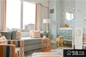 客厅飘窗窗帘设计效果图片欣赏