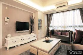现代欧式客厅电视背景墙壁纸图片