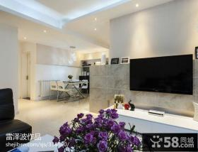 2013现代客厅瓷砖电视背景墙效果图