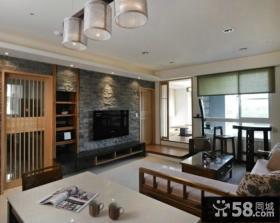 中式精装修设计客厅电视背景墙图片大全