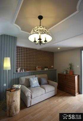 小户型样板间设计客厅灯具图片