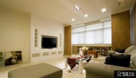 简约设计室内40平米客厅电视背景墙图片