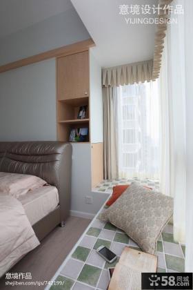 现代风格卧室飘窗效果图欣赏