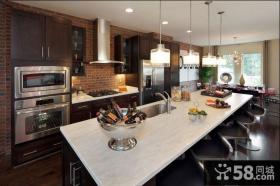 115平米三居室美式现代风格餐厅装修效果图大全2014图片