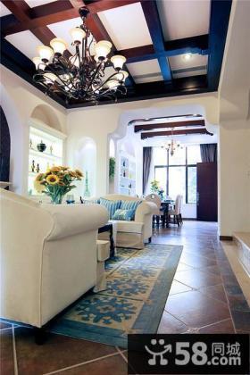 地中海设计客厅吊顶