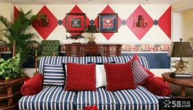 美式乡村风格小卧室装修设计效果图