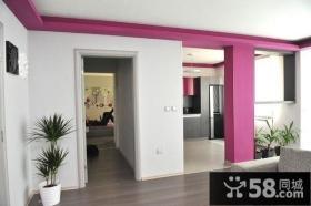 紫色情迷打造小户型玄关装修效果图大全2014图片