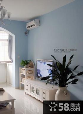 小客厅装修 浅色电视背景墙装修设计
