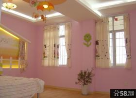 简单粉红卧室设计图片