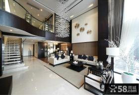 现代中式别墅客厅装修效果图大全2013图片