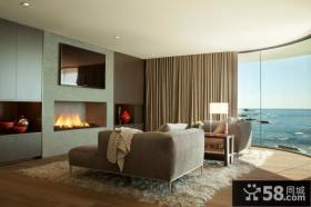 现代豪华别墅室内电视背景墙设计