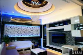 简约室内装修客厅电视背景墙图片
