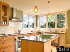 现代美式别墅客厅餐厅装修效果图欣赏