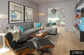 美式乡村风格室内客厅设计效果图