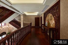 中式古典家居过道设计案例
