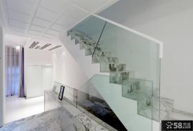 简约风格大理石楼梯过道吊顶装修