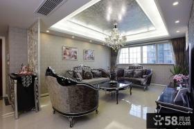 新古典风格两房装修客厅吊顶效果图