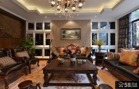 田园美式风格客厅茶几家具图片