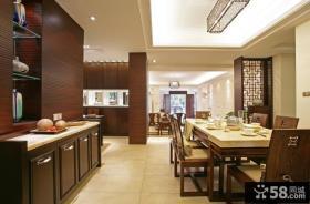 中式风格餐厅隔断设计图片大全欣赏