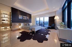现代风格三层别墅卧室效果图