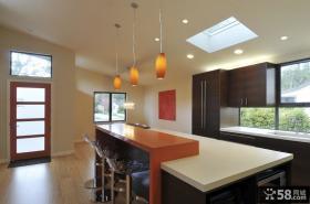 复式楼装修效果图 复式楼开放式厨房设计