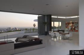 海景房一层别墅图片大全 2012客厅装修效果图