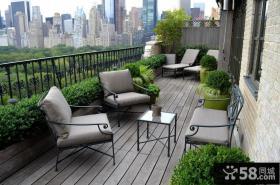 大阳台花园设计效果图