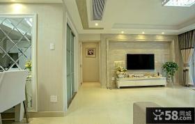 简易装修奢华客厅电视背景墙